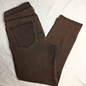Free People Brownish Jeans Sz 31 Skinny Stretch